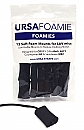 Ursa Mini Foamies Black (Pack Of 12)