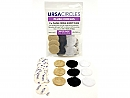 Ursa Plush Circles Multi-Pack of 9, beige, black & white